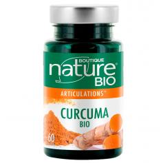 BOUTIQUE NATURE Complément alimentaire CURCUMA BIO 60 comprimés (Articulations)
