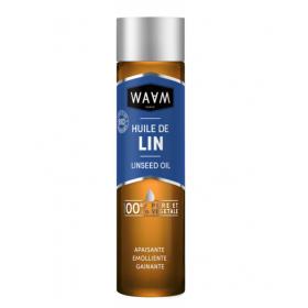 WAAM COSMETICS Huile de LIN 100% pure et végétale 100ml