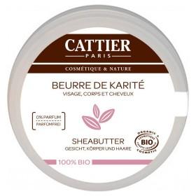 CATTIER PARIS Beurre de karité sans parfum BIO 100g