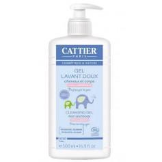 CATTIER PARIS Gel lavant doux cheveux & corps pour Bébé BIO 500ml