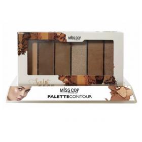 MISS COP Palette de maquillage pour le teint SCULPT FACE 28g