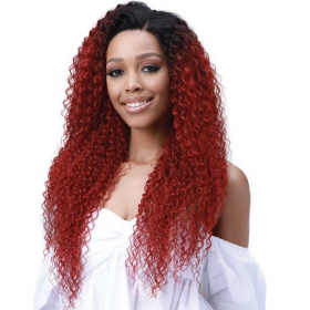 "BOBBI BOSS perruque JERRY CURL 26"" (Lace Front 13x6)"