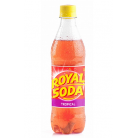 ROYAL SODA Carbonated soft drink TROPICAL flavour 50cl