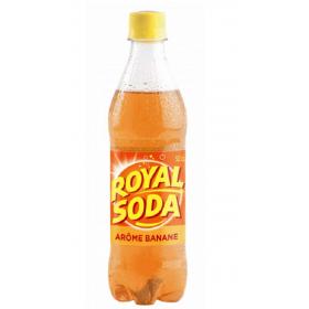 ROYAL SODA Carbonated Soft Drink BANANE flavour 50cl
