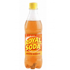 ROYAL SODA Boisson gazeuse saveur BANANE 50cl