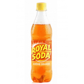 ROYAL SODA Boisson gazeuse saveur ORANGE 50cl
