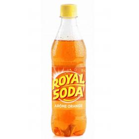 ROYAL SODA Carbonated soft drink ORANGE flavour 50cl