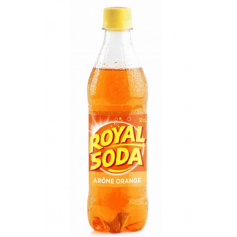 ROYAL SODA Boisson gazeuse saveur ORANGE 50cl