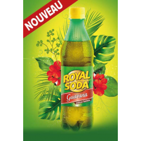 ROYAL SODA Carbonated soft drink GUARANA flavour 50cl