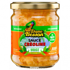 DAME BESSON Sauce créoline DOUCE 210ml