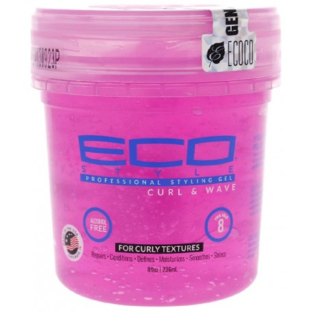 ECO STYLER PINK Fixing Gel for Curl and Waves 236ml