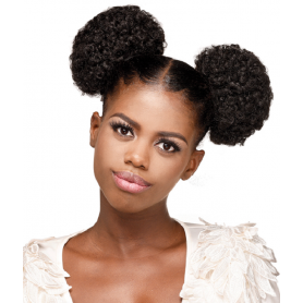 JEWEL hairpiece TWIN AFRO PUFF (L)