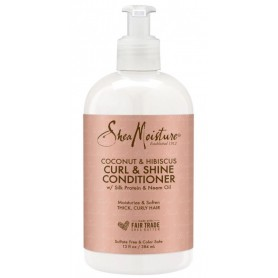 SHEA MOISTURE Conditionneur CURL & SHINE Coco & Hibiscus 384ml