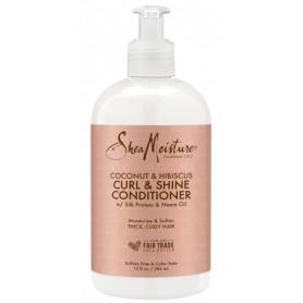 SHEA MOISTURE Conditionneur CURL & SHINE Coco & Hibiscus 384ml