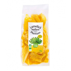 Lamelles de banane plantain salées RACINES BIO 55g