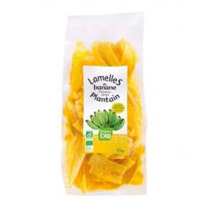 Salted plantain plantain slices RACINES ORGANIC 55g