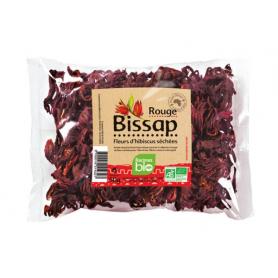 Red hibiscus flower BISSAP RACINES ORGANIC 50g