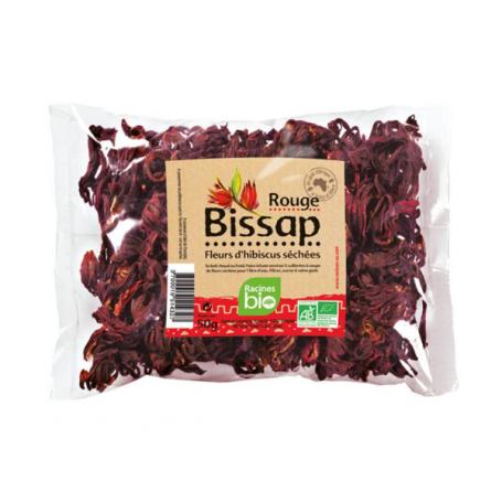 Fleur d'hibiscus rouge BISSAP RACINES BIO 50g