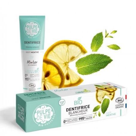 PULPE DE VIE Dentifrice Blancheur à l'extrait de citron BIO 75ml