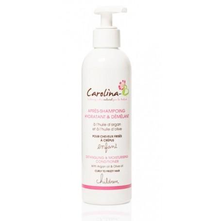 CAROLINA B Après-shampoing Hydratant & Démêlant ARGAN et HUILE D'OLIVE Pour ENFANTS 250ml