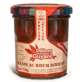 French Guiana Delights Banana jam with rum 210g