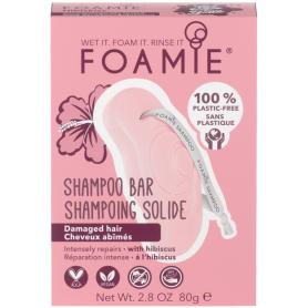 FOAMIE Shampoing solide pour cheveux abîmés 80g