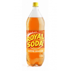 ROYAL SODA Boisson gazeuse saveur ORANGE 2L