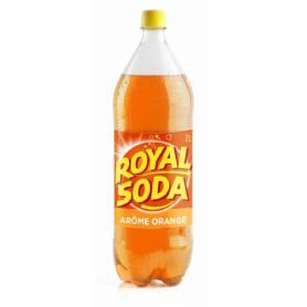 ROYAL SODA Carbonated soft drink ORANGE flavour 2L