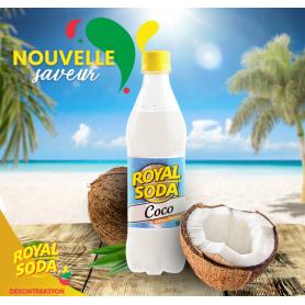 ROYAL SODA boisson gazeuse saveur coco 50cl