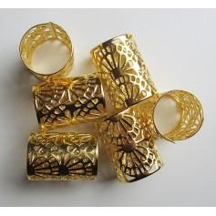 Bagues dorées pour nattes et locks JUMBO