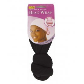 QFITT Bonnet noué HEAD WRAP NOIR