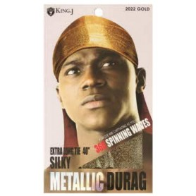 QFITT Bonnet GOLD METALLIC DURAG (360°spinning waves)
