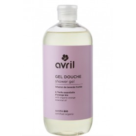 AVRIL Gel Douche à l'infusion de LAVANDE fruitée BIO 500ml