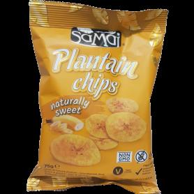 SAMAI Chips à la banane sucrées 75g