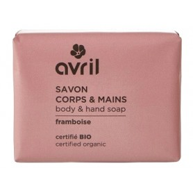 AVRIL Savon corps & mains FRAMBOISE BIO 100g