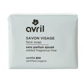 AVRIL Savon visage sans parfum ajouté BIO 100g