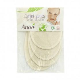 ANAE 4 Mini gants à démaquiller BIO
