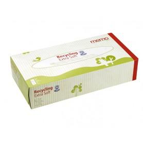 MEMO Boîte de 100 mouchoirs papier recyclé 2 épaisseurs
