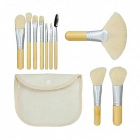 TOOLS FOR BEAUTY Set de 10 pinceaux à maquillage Blanc