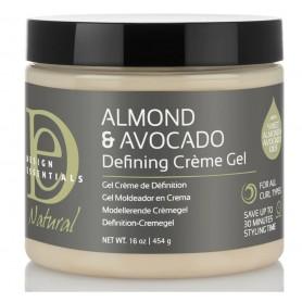 DESIGN ESSENTIALS Gel crème définition OLIVE COCO AMANDE 454g (Defining Creme Gel)