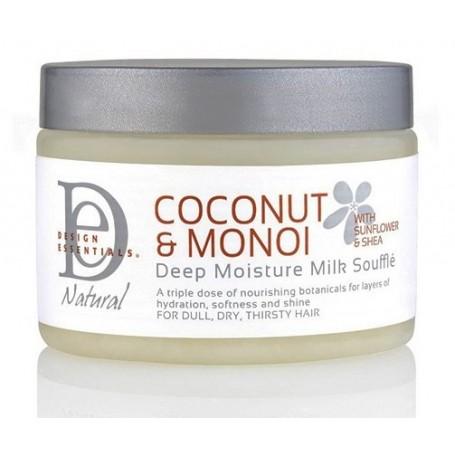 DESIGN ESSENTIALS Lait soufflé super hydratant COCO & MONOÏ 340g (Deep Moisture Milk Souffle)