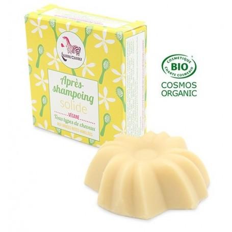LAMAZUNA Après-shampoing solide aux notes vanillées BIO 74ml