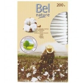 BEL NATURE 200 Cotons Tige en Coton Biologique