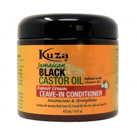 KUZA Leave-in hydratant & réparateur RICIN NOIR DE JAMAIQUE 473ml