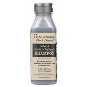CREME OF NATURE Shampooing Réparateur CHARBON/ARGILE/ALOE VERA 355ml