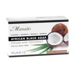 Savon noir africain NOIX DE COCO 200g