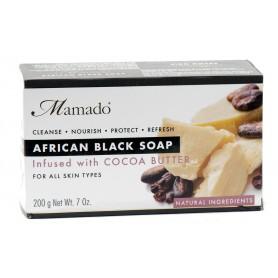 MAMADO Savon noir africain BEURRE DE CACAO 200g