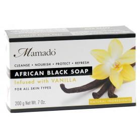 MAMADO Savon noir africain VANILLE 200g