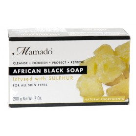 MAMADO Savon noir africain SOUFRE 200g