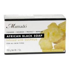 Savon noir africain SOUFRE 200g